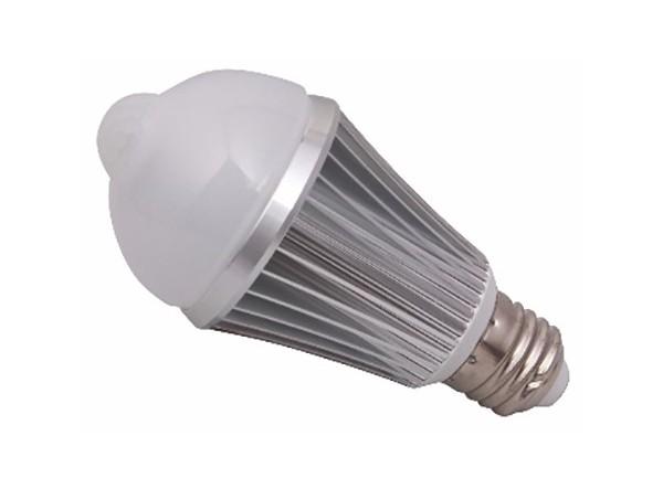 Ampoule LED + detecteur PIR 9W