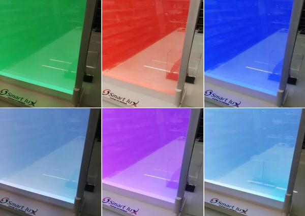 Illuminated glass wall